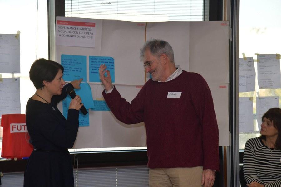 Il gruppo di lavoro si confronta su idee e progetti