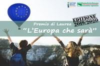 """""""L'Europa che sarà – edizione 2019/2020"""" per tesi di Laurea Magistrale"""