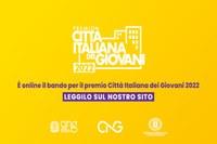 Online il bando per il premio CITTÀ ITALIANA GIOVANI 2022