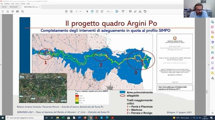 progetto quadro argini Po - Andrea Colombo Autorità bacino Po