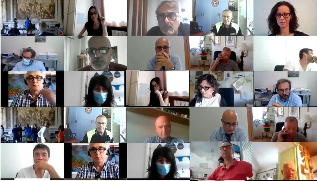 partecipanti in video conferenza