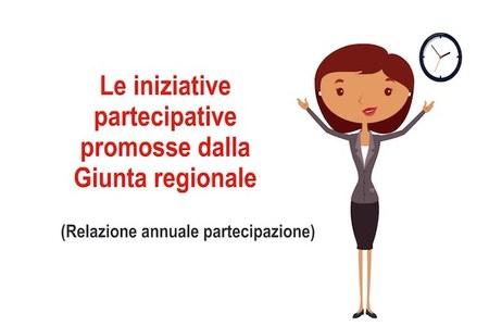Le iniziative partecipative promosse dalla Giunta regionale
